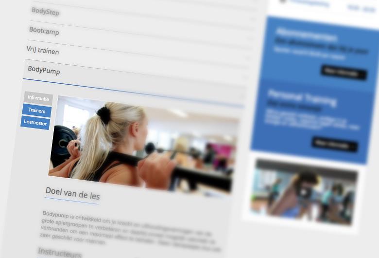 Website ontwerp, vormgeving SDM Sportcentrum de Meern