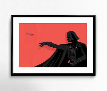 Dart-vader-illustration-wall-art-poster