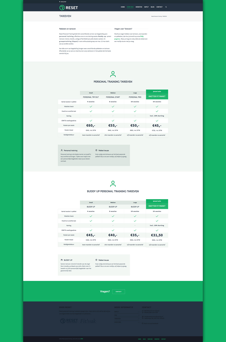 Reset-personal-training-Pricing-page-design