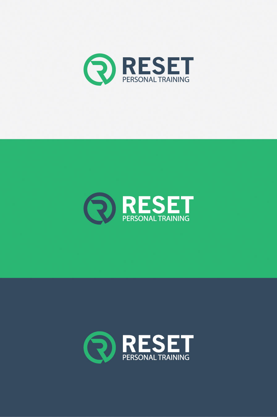 Reset-personal-training-logo-design