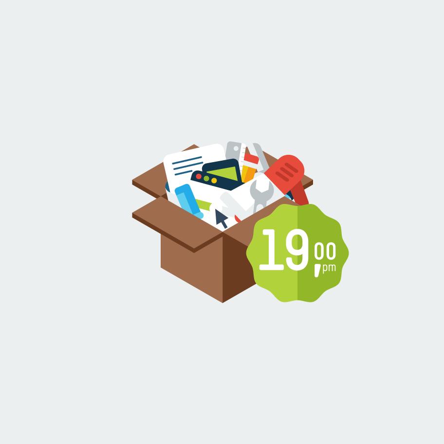 Web-winkel-pakket-icon-animatie