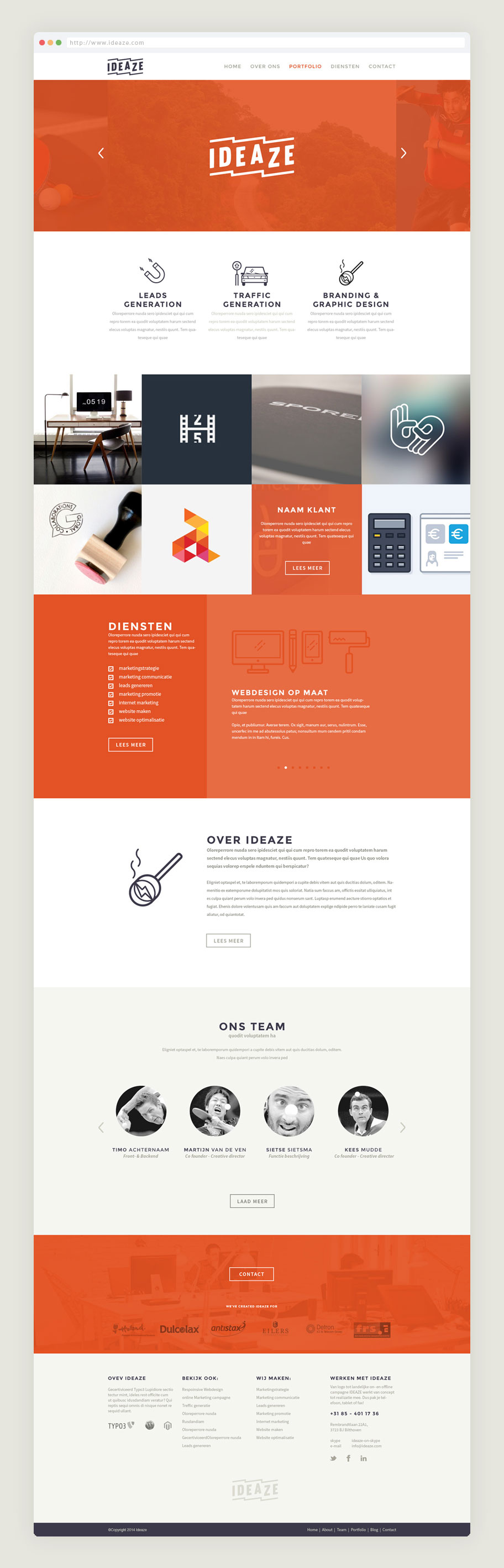 Webdesign-Ideaze-website-ontwerp-homepage