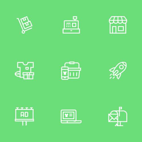 custom icon set mijnwebwinkel