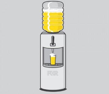 Office-Beer-cooler-illustration
